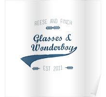 Glasses and Wonderboy Blue Poster