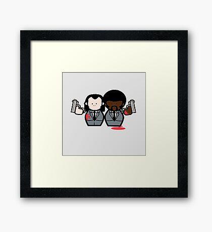 Jules and Vincent- Pulp Fiction Framed Print