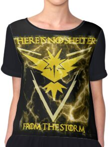 There is no shelter from the storm Pokemon go Chiffon Top