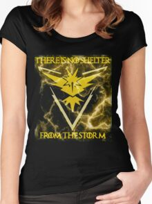 There is no shelter from the storm Pokemon go Women's Fitted Scoop T-Shirt