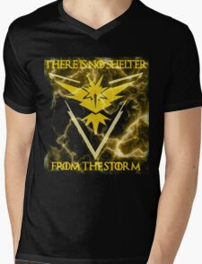 There is no shelter from the storm Pokemon go Mens V-Neck T-Shirt