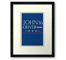 John Oliver 2016 Framed Print