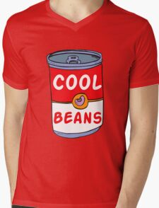 Can of Cool Beans Mens V-Neck T-Shirt