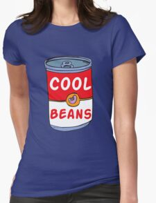 Can of Cool Beans Womens Fitted T-Shirt