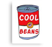 Can of Cool Beans Canvas Print