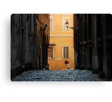 Streetscape in Orange  Canvas Print