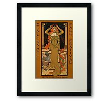 'Fall Festival' Vintage Poster (Reproduction) Framed Print