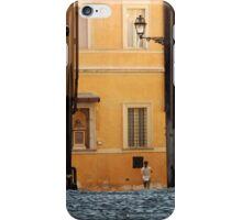 Streetscape in Orange  iPhone Case/Skin