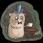 Sir Hamster with tea by Kopfzirkus