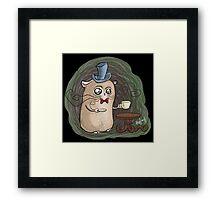 Sir Hamster with tea Framed Print