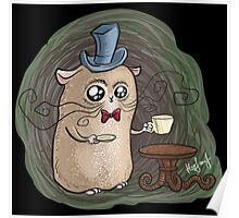 Sir Hamster with tea Poster