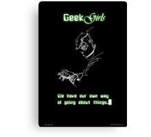 Geek Girls Canvas Print