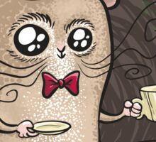 Sir Hamster with tea Sticker