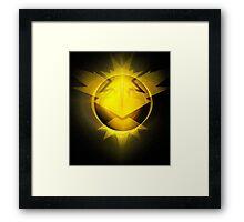 Instinct team yellow pokemongo pokemon Framed Print