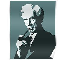Thinkers - Bertrand Russell (blue) Poster