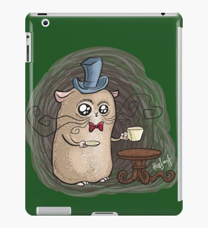 Sir Hamster with tea iPad Case/Skin