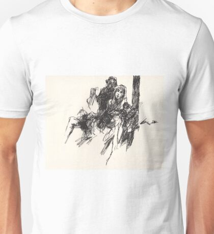 Mary and Jesus, taken off the cross Unisex T-Shirt
