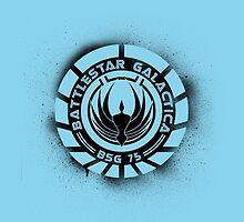 Battlestar Galactica Grunge - Blue line by lovecrafted