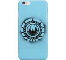 Battlestar Galactica Grunge - Blue line iPhone Case/Skin