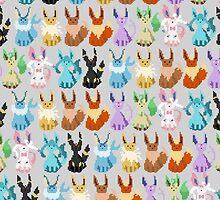Pixel Eevees by Rhouk