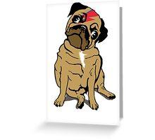 Bowie Pug Greeting Card