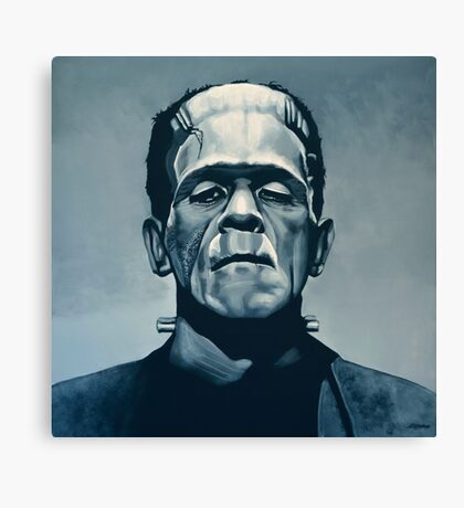 Boris Karloff as Frankenstein  Canvas Print