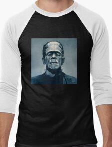 Boris Karloff as Frankenstein  Men's Baseball ¾ T-Shirt