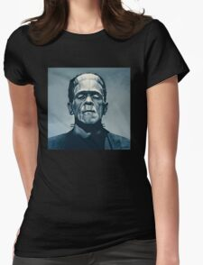 Boris Karloff as Frankenstein  Womens Fitted T-Shirt