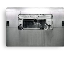 Tube Passenger (Underground, London) Canvas Print