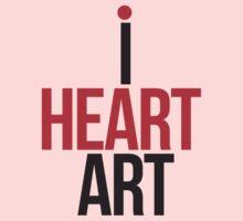 I HEART ART II One Piece - Long Sleeve