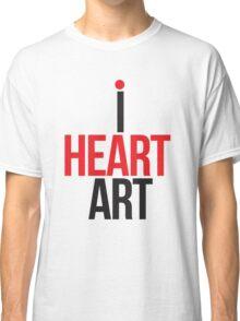 I HEART ART II Classic T-Shirt