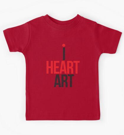 I HEART ART II Kids Tee