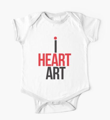 I HEART ART II One Piece - Short Sleeve