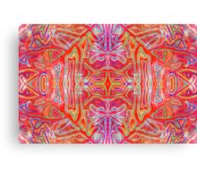 Colorful Wavy Red Pattern Canvas Print