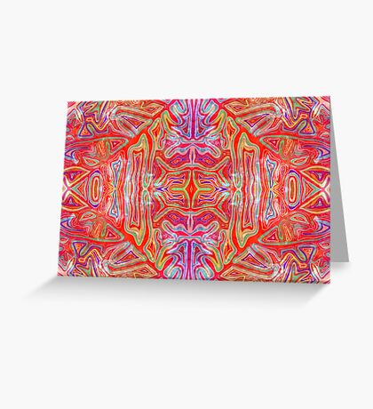 Colorful Wavy Red Pattern Greeting Card