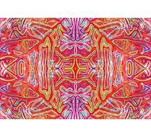 Colorful Wavy Red Pattern Photographic Print