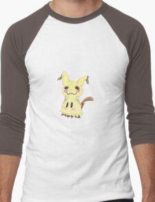 Mimikkyu Print Men's Baseball ¾ T-Shirt