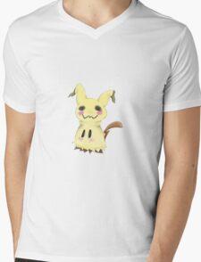 Mimikkyu Print Mens V-Neck T-Shirt
