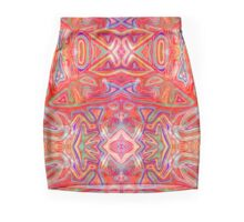 Colorful Wavy Red Pattern Mini Skirt