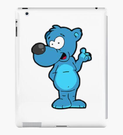 bear in blue iPad Case/Skin