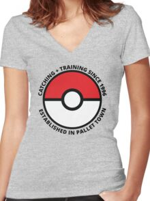 Pokemon- Pallet Town Born and Raised Women's Fitted V-Neck T-Shirt