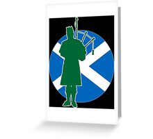 Scottish Piper Flag Greeting Card