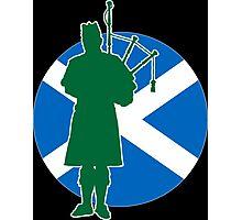 Scottish Piper Flag Photographic Print