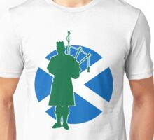 Scottish Piper Flag Unisex T-Shirt