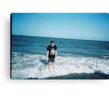 Elvis Depressedly Ocean Canvas Print