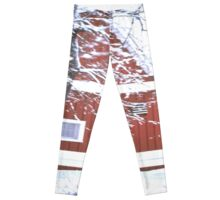Winter Barn Scene Leggings