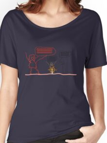 Wait but Why Panic Monster Shirt Women's Relaxed Fit T-Shirt