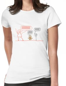 Wait but Why Panic Monster Shirt Womens Fitted T-Shirt