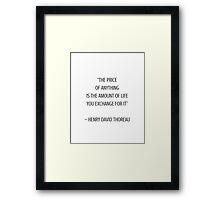 THE PRICE Framed Print