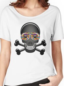 Psychedelic Skull And Crossbones Women's Relaxed Fit T-Shirt